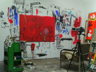 'The canvas is not the territory' - in Studio - oil on canvas  - 2011