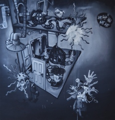 'Faculties' - 2011 - oil on canvas - 152cm x 178cm