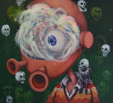 'Mr Nuero Semantic' - 2012 - oil on canvas - 200 x 200 cm