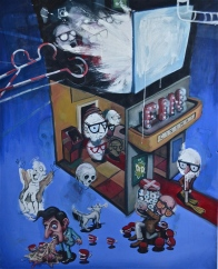 'Society of the Spectacles - II' 2011 - oil on canvas - 145 x 125 cm