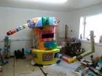 Central unit under construction in studio